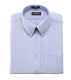 John Bartlett Statements Men's Solid Blue Oxford Dress Shirt