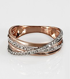 Effy® Pave Rose Collection 14K Gold .29 ct. t.w. Diamond Ring in Rose Gold