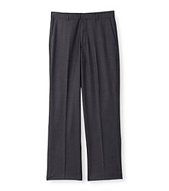 Calvin Klein Boys' 4-20 Charcoal Fine Line Twill Pants