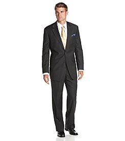 Lauren Ralph Lauren Men's Charcoal Stripe 2-Piece Suit