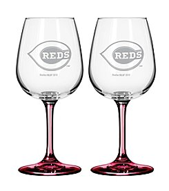 MLB® Cincinnati Reds 2-Pack Wine Glasses