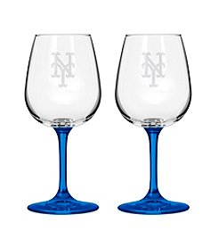 MLB® New York Mets 2-Pack Wine Glasses