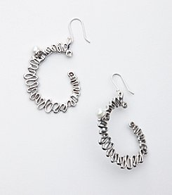 Hagit Gorali Sterling Silver Swirl Hoop Earrings