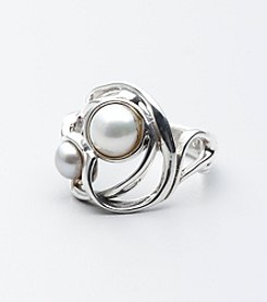 Hagit Gorali Sterling Silver and Pearl Ring