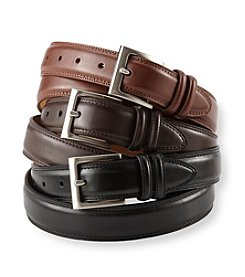 John Bartlett Statements Men's Nappa Double Stitch Belt