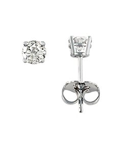 Effy® .50 ct. t.w. Diamond Stud Earrings in 18K White Gold