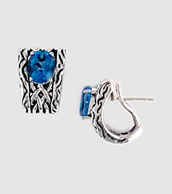 Effy® Balissima Sterling Silver Blue Topaz Earrings