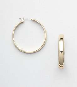 Napier® Goldtone Hoop Earrings