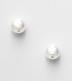Napier® Silvertone Ball Stud Earrings