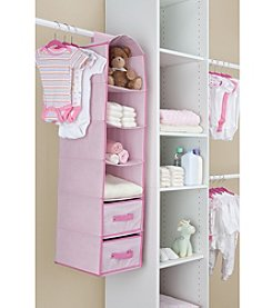 Delta Pink 4-Shelf Closet Storage with Drawers