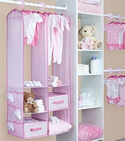 Delta Children Pink 24 Piece Nursery Storage Set