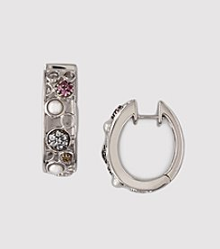 Effy® Balissima Sterling Silver Stone Hoop Earrings - Multi