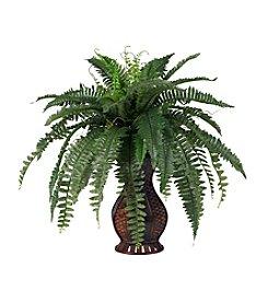 Nearly Natural® Boston Fern with Urn Silk Plant