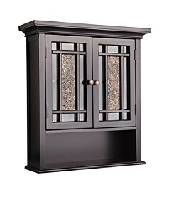 Elegant Home Fashions® Windsor Wall Cabinet - Two Doors / One Shelf - Dark Espresso