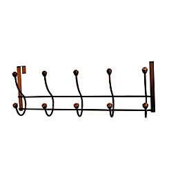 Elegant Home Fashions® Five-Hook Over the Door - Amber Acrylic Ball/Oil Rubbed Bronze