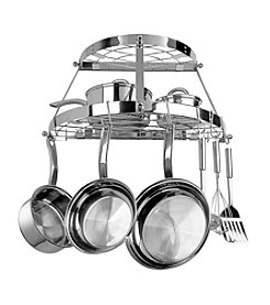 Range Kleen Stainless Steel Wall-Mounted Double-Shelf Pot Rack