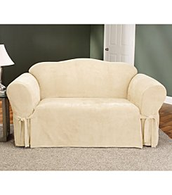 Sure Fit® Soft Suede 1-pc. Loveseat & Sofa Slipcover