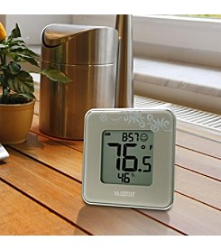 La Crosse Technology® Silver Indoor Temperature and Humidity Station