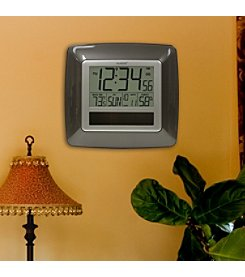 La Crosse Technology® Bronze Solar Atomic Digital Wall Clock with Temperature & Humidity