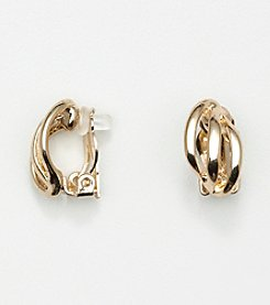 Napier® Goldtone Triple Wire Clip Earrings