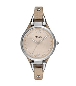 Fossil® Women's 32mm Georgia Watch With Bone Leather Strap