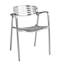 Baxton Studios Ethan Contemporary Aluminum Accent Chair