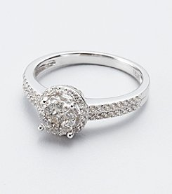 Effy® .Bouquet Collection 48 ct tw. Diamond and 14K White Gold Ring