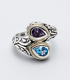 Effy® Blue Topaz and Amethyst Sterling Silver Ring