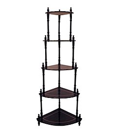 Ore International™ Cherry 5-Tier Corner Stand