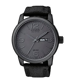 Citizen® Men's Eco-Drive Black Ion-Plated Watch