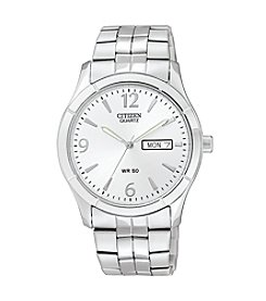 Citizen® Men's Stainless Steel Watch with Silver Dial