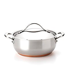 Anolon® Nouvelle Copper 4-qt. Stainless Steel Covered Chef Casserole