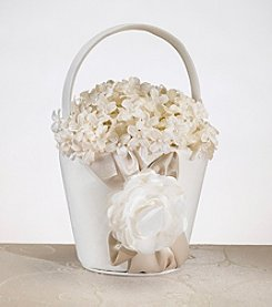 Lillian Rose® Taupe Rose Flower Basket