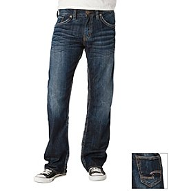 Silver Jeans Co. Men's Dark Zac Relax Straight Stretch Jeans