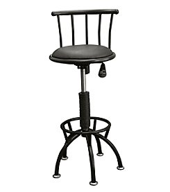 Ore International™ Adjustable-Height Swivel Barstool