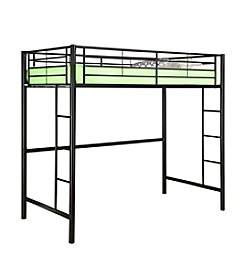W. Designs Black Metal Twin Loft Bunk Bed