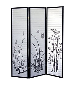 Ore International™ 3-Panel Scenery Room Divider
