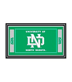 NCAA® University of North Dakota Logo and Mascot Framed Mirror