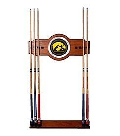 Trademark NCAA® Iowa Hawkeyes Wood and Mirror Wall Cue Rack