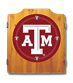 NCAA® Texas A&M University Dart Cabinet with Darts and Board