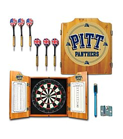 NCAA® University of Pittsburgh Dart Cabinet with Darts and Board