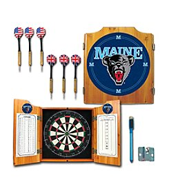 NCAA® University of Maine Dart Cabinet with Darts and Board