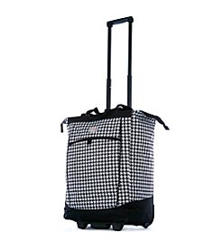 Olympia Houndstooth Rolling Shopper Tote