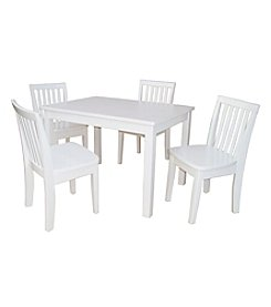International Concepts 5-pc. Kid's Table & Mission Chair Set