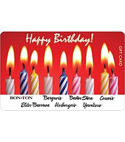 Gift Card - Birthday Cake with Candles