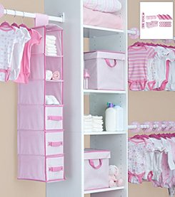 Delta Children Pink 48 Piece Nursery Closet Set