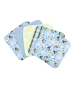 Trend Lab Baby Barnyard 5-pack Wash Cloth Set