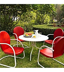 "Crosley Furniture Griffith Metal 40"" 5-pc. Outdoor Dining Set"