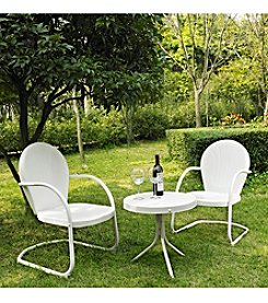 Crosley Furniture Griffith Outdoor Table and Set of Two Chairs