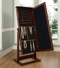 Powell® Walnut Cheval Jewelry Wardrobe